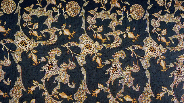 "William Morris's ""Lea"" textile print, 1885"